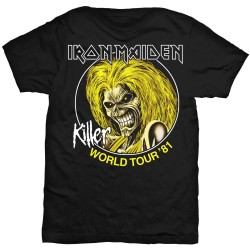 Iron Maiden: Killer World Tour '81 (tricou)