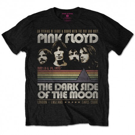 Tricou Pink Floyd: The Dark Side of the Moon Vintage Stripes