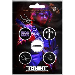 Tony Iommi (Black Sabbath): Iommi (set insigne - 5 buc.)