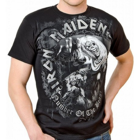 Tricou Iron Maiden: The Number of the Beast Grey Tones