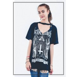 Tricou Dama Behemoth: The Satanist (acid wash)