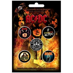 AC/DC: Highway To Hell (set insigne - 5 buc.)