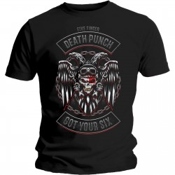 Five Finger Death Punch: Biker Badge (tricou)