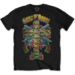 Tricou Guns N' Roses: Skull Cross 80s