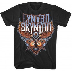 Lynyrd Skynyrd: Crossed Guitars (tricou)