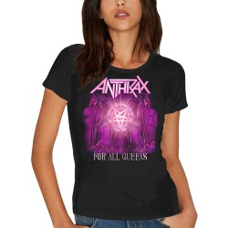 Tricou dama Anthrax: For All Queens (Skinny Fit)