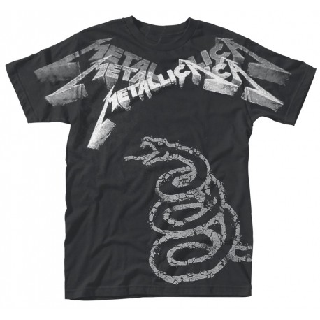 Tricou Metallica: Black Album Faded