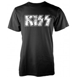 Tricou KISS: Distressed Logo
