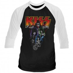 Tricou Maneca Lunga KISS: Neon Band