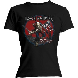 Tricou Dama Iron Maiden: Trooper Red Sky