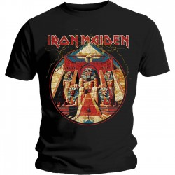 Tricou Iron Maiden: Powerslave Lightning Circle