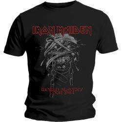 Tricou Iron Maiden: World Slavery 1984 Tour