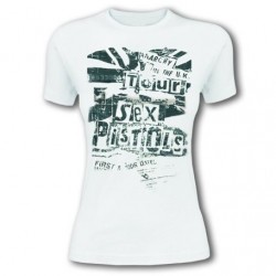 Tricou Dama Sex Pistols: Flag Tour