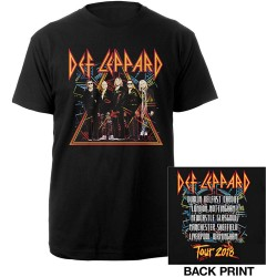 Tricou Def Leppard: 2018 Tour Photo