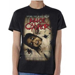 Tricou Alice Cooper: Spend The Night With Spiders