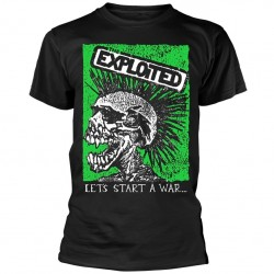 Tricou The Exploited: Let's Start A War Skull