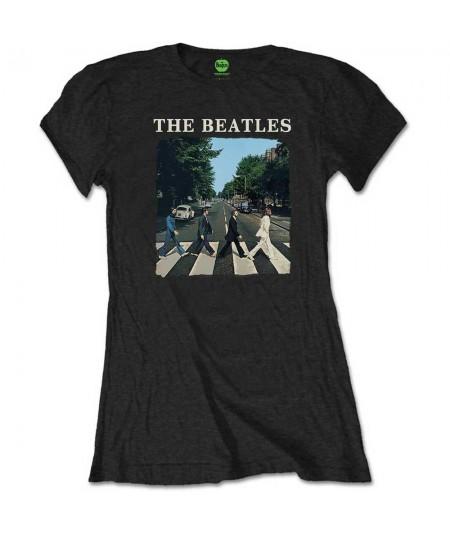 Tricou Dama The Beatles: Abbey Road & Logo