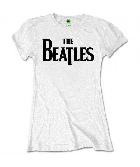 Tricou Dama The Beatles: Drop T Logo