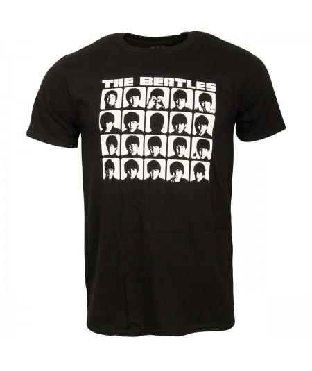 Tricou Unisex The Beatles: Hard Day's Night Faces Mono