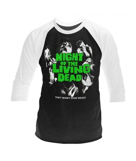 Tricou Maneca 3/4 Night Of The Living Dead