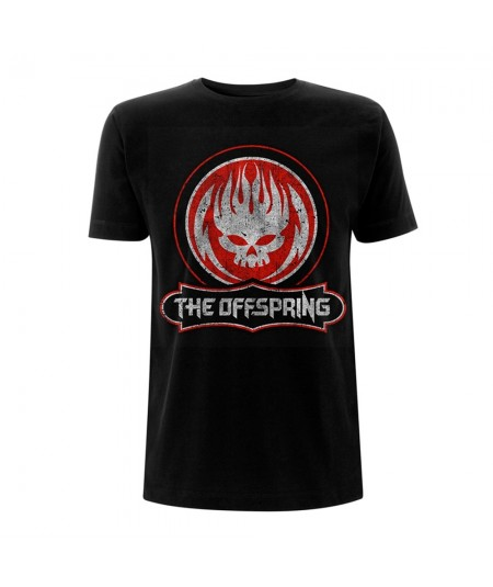 Tricou Unisex The Offspring: Distressed Skull