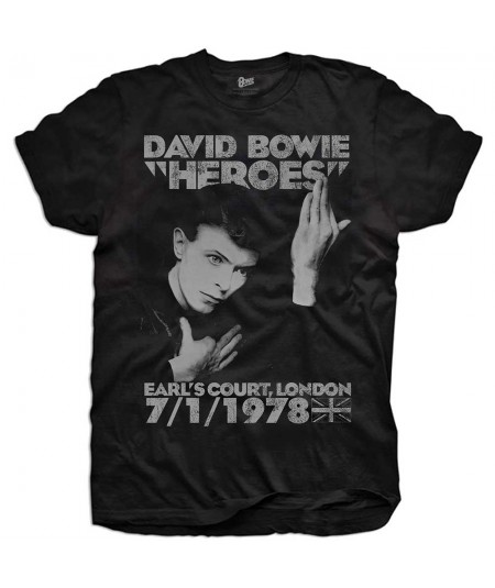 Tricou Copii David Bowie: Heroes Earls Court
