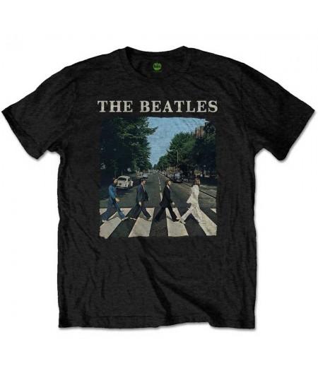 Tricou Unisex Beatles - The: Abbey Road & Logo