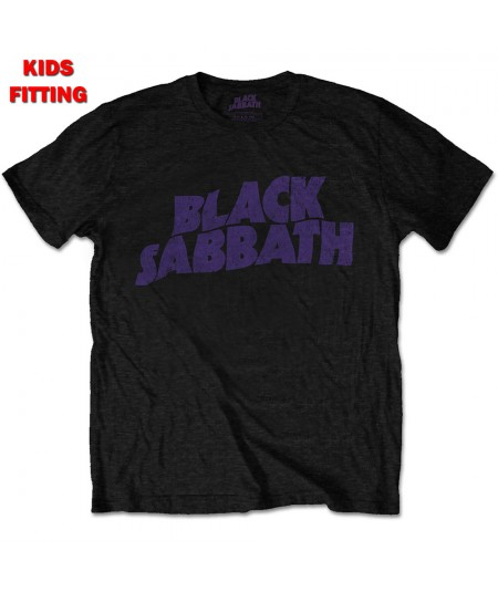 Tricou Copii Black Sabbath: Wavy Logo