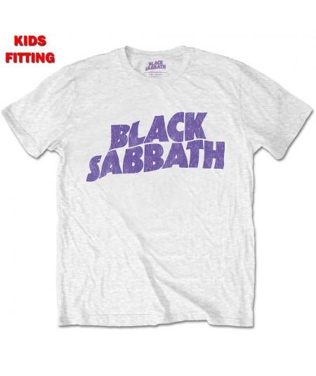 Tricou Copii Black Sabbath: Wavy Logo