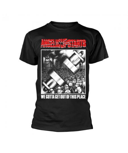 Tricou Unisex Angelic Upstarts: We Gotta Get Out Of This Place
