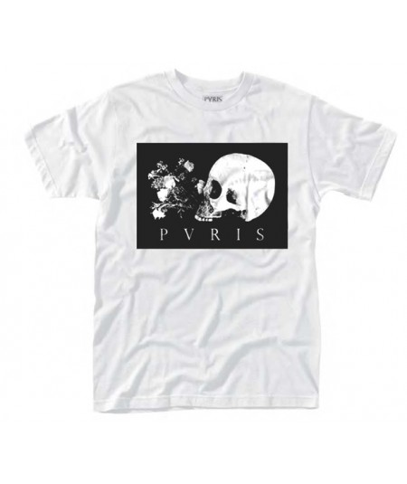 Tricou Unisex Pvris: Skull Flowers