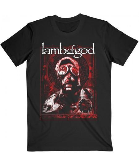Tricou Unisex Lamb Of God: Gas Masks Waves