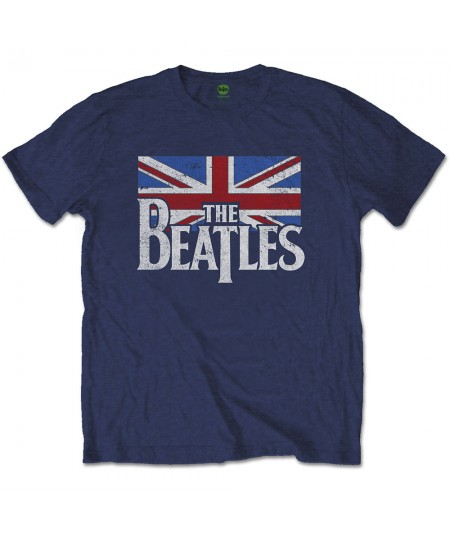 The Beatles: Drop T Logo & Vintage Flag