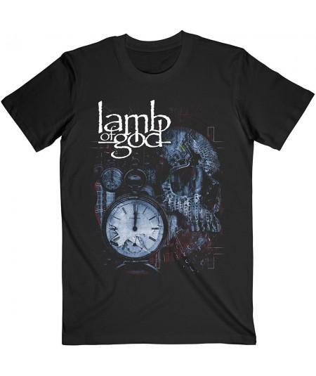 Tricou Unisex Lamb Of God: Circuitry Skull Recolor