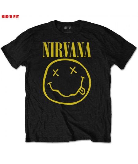 Tricou Copii Nirvana: Smiley Logo