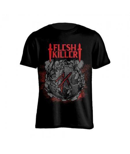 Tricou Unisex Fleshkiller: Red Logo