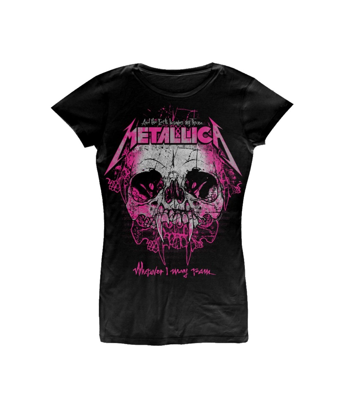 Tricou Dama Metallica: Wherever I May Roam