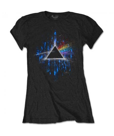 Tricou Dama Pink Floyd: Dark Side Of The Moon Blue Splatter