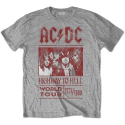 Tricou AC/DC: Highway to Hell World Tour 1979/1980 (Editie Speciala)