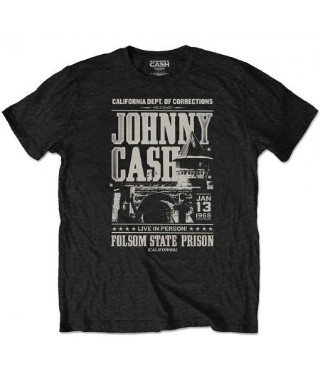 Tricou Eco Unisex Johnny Cash: Prison Poster