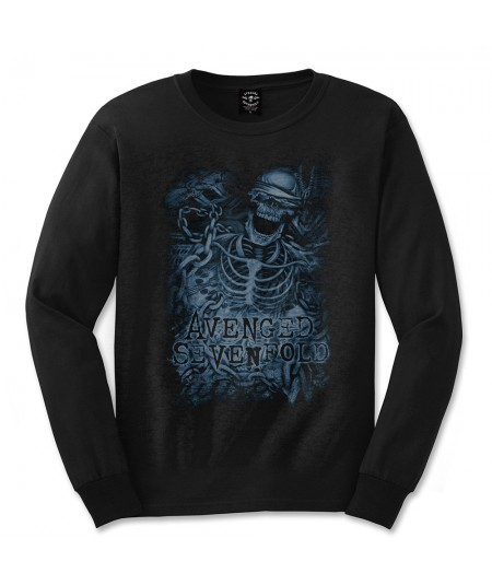 Tricou Maneca Lunga Avenged Sevenfold: Chained Skeleton