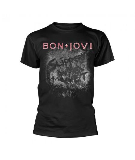 Tricou Unisex Bon Jovi: Slippery When Wet Album