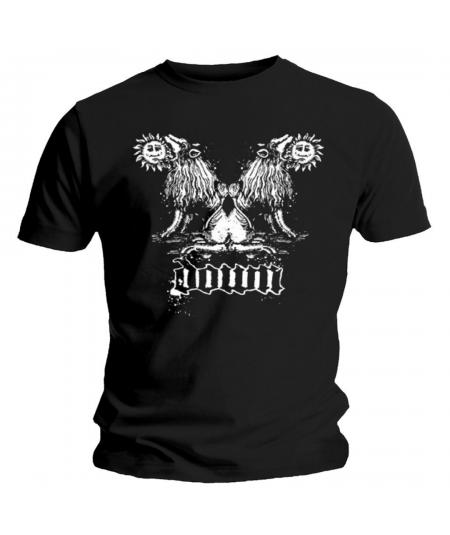 Tricou Unisex Down: Double Lion