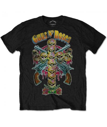 Tricou Unisex Guns N' Roses: Skull Cross 80s