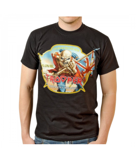 Tricou Unisex Iron Maiden: Trooper Robinsons Beer