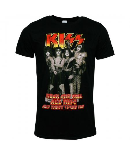 Tricou Unisex KISS: Rock And Roll All Nite