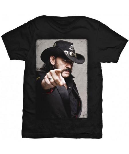 Tricou Unisex Lemmy: Pointing Photo