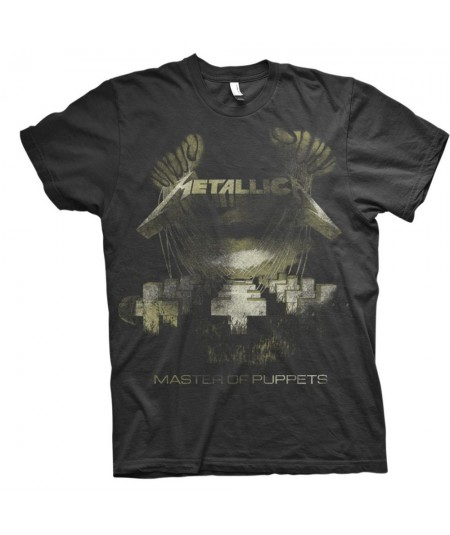 Tricou Unisex Metallica: Master Of Puppets Distressed