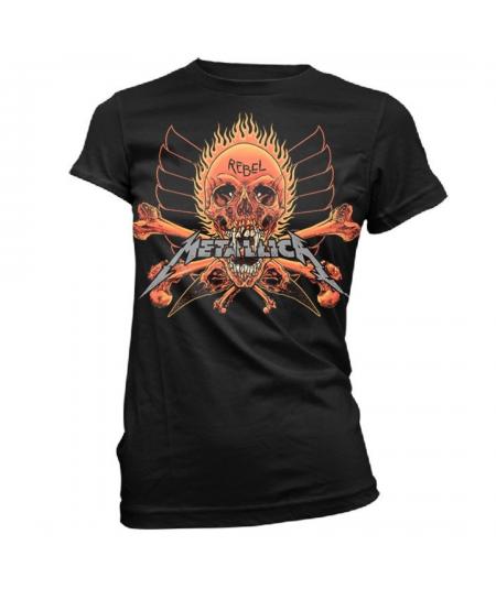 Tricou Dama Metallica: Rebel Black