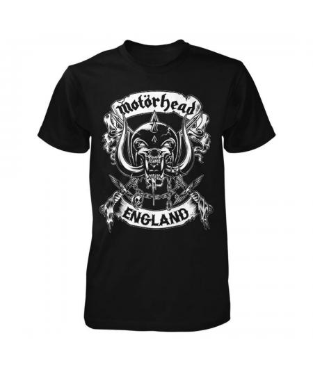 Tricou Unisex Motorhead: Crossed Swords England Crest